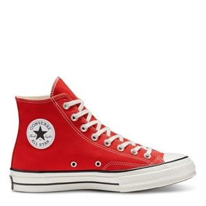 Classic red Chuck Taylor Converse shoes